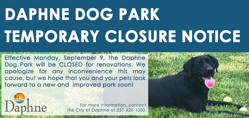 DOG PARK Closure Sept2019 v3